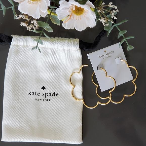 Kate Spade Scrunched Scallop Earrings